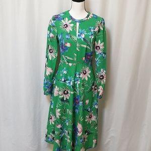 H&M tropical floral midi dress